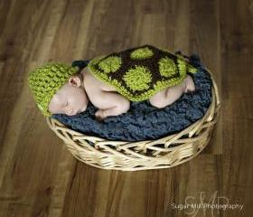 Baby Turtle, Newborn Turtle, Newborn Photo Prop, Newborn Crochet Hat, Crochet Baby Hats, Turtle Hat, Baby Hats, Crochet Newborn Hat