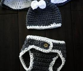 Baby Boy Bunny Hat and Diaper Cover Set Too Cute Newborn Boy Or Girl Crochet Bunny Hat/Diaper Cover Set Gift Newborn Crochet Hats Easter Set