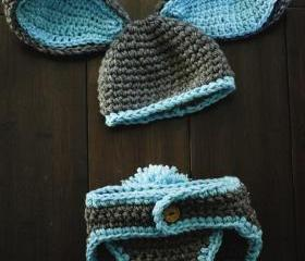 Baby Boy Bunny Hat Must See Too Cute Newborn Baby Boy Or Girl Crochet Bunny Hat/Diaper Cover Set Gift Newborn Crochet Hats Easter Set